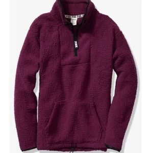NWT Pink Sherpa Pullover XS